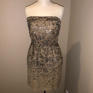 BCBGMaxAzria Strapless Sequin Dress